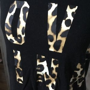 PINK Victoria's Secret Tops - Victoria's Secret PINK Leopard Graphic Tank Top